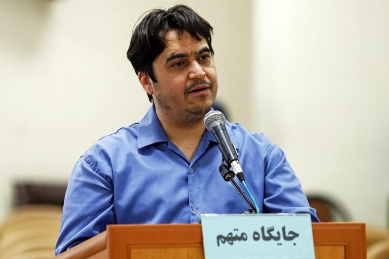 伊朗曾流亡海外的記者扎姆(見圖)因其網路活動,被認定犯下「塵世腐敗」罪,判處死刑。(美聯社)