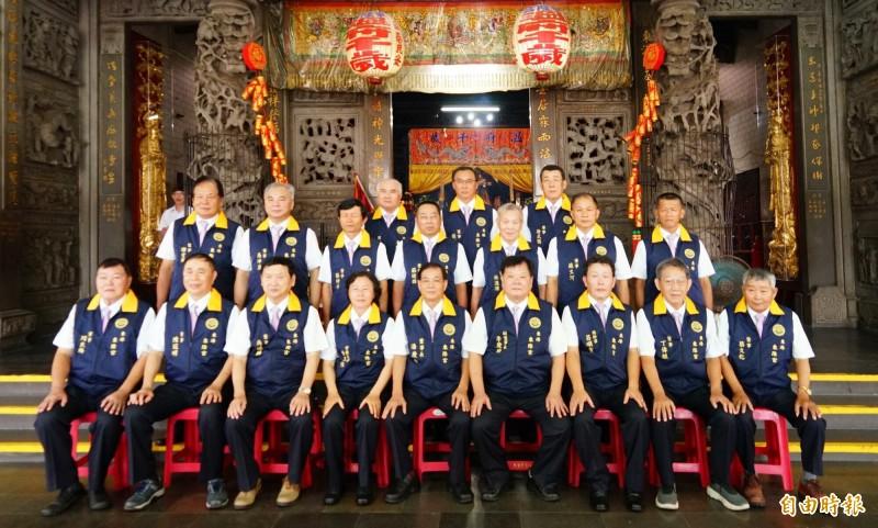 東隆宮第十屆董監事會今天宣誓就職。(記者陳彥廷攝)