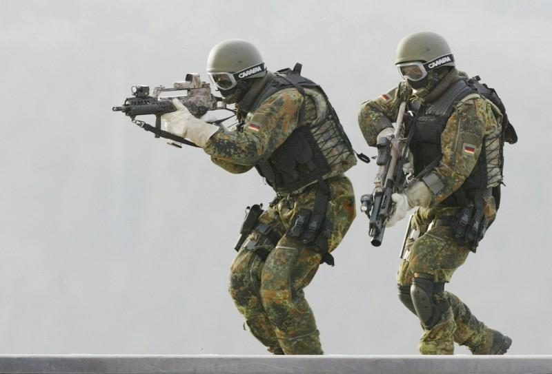 因涉及極右翼主義,德國下令解散特種部隊司令部(KSK)轄下的第二突擊連。照片為KSK的士兵。(美聯社)