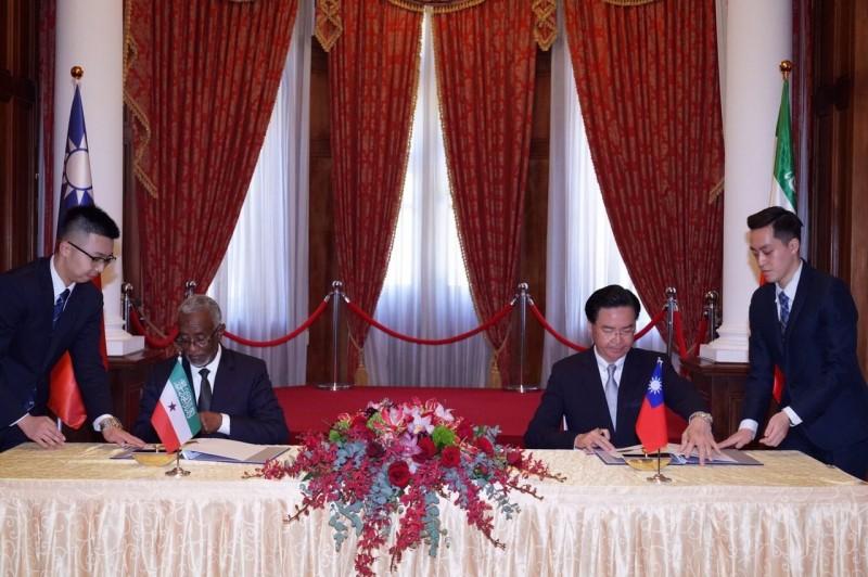 我國與索馬利蘭共和國將互設官方代表機構,以「台灣代表處」及「索馬利蘭代表處」為名。(外交部提供)