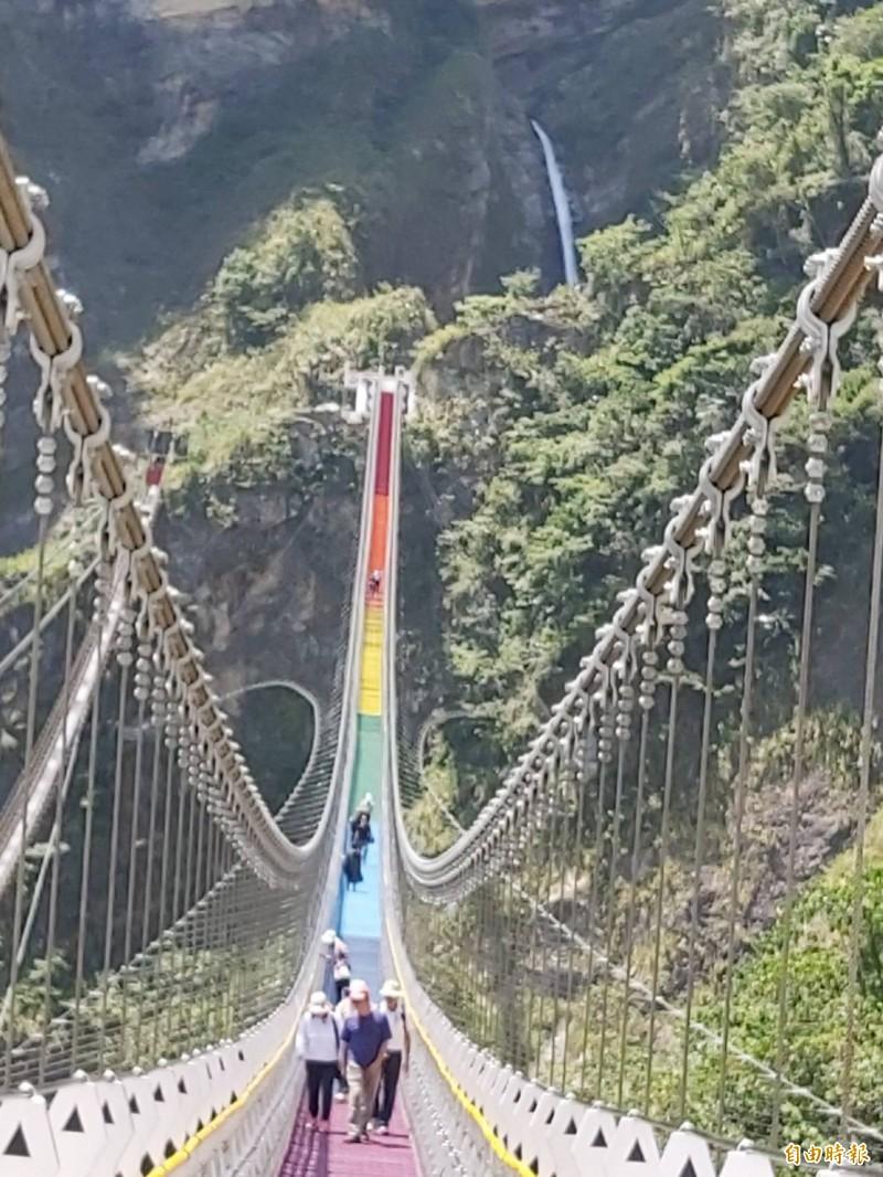 中台灣好玩卡「南投縣限定版」,可從雙龍七彩吊橋等18個南投縣經典景點中選6個暢遊。(資料照,記者張協昇攝)