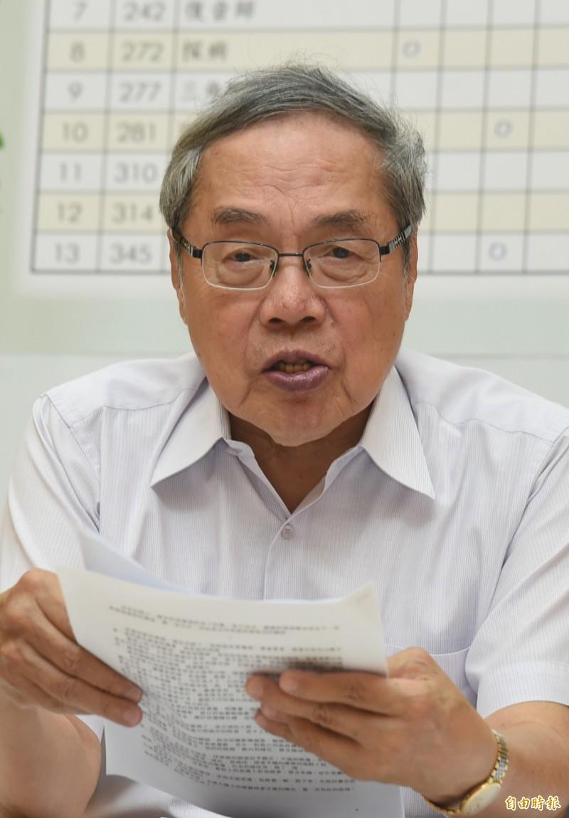 台灣知名作家陳芳明。(資料照)