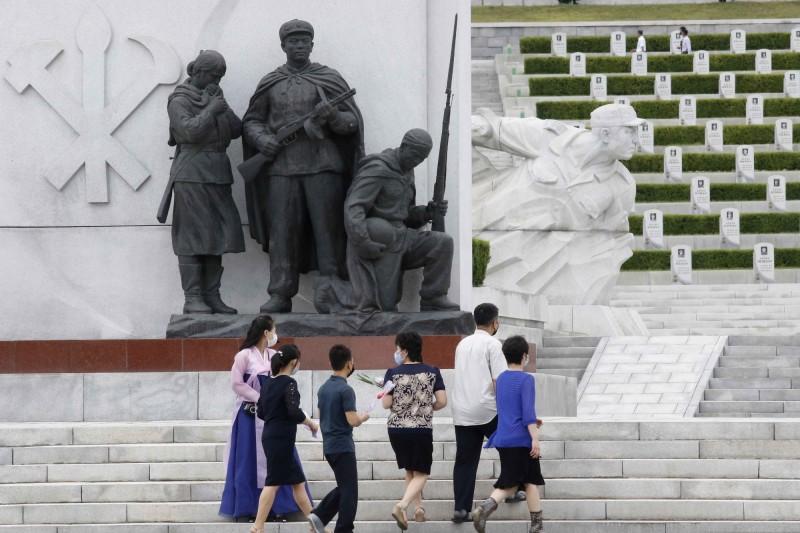 北韓武漢肺炎(新型冠狀病毒病,COVID-19)疫情持續維持零確診紀錄。(美聯社)