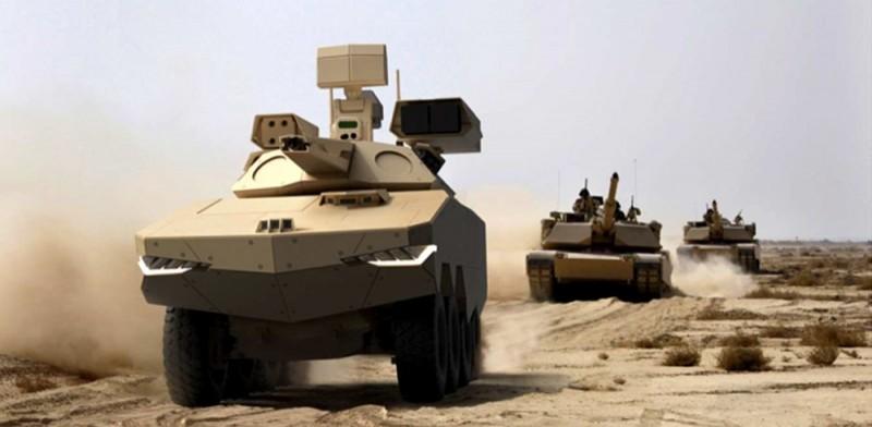 南韓韓華防衛公司開始研發「LSED」未來車載武器系統,使用固體熱效應雷射光素對地雷、未爆彈炸藥或是簡易爆裂物進行加熱,降低爆炸殺傷力,圖為韓華防衛公司次世代防空系統。(擷取自韓華防衛公司官網)