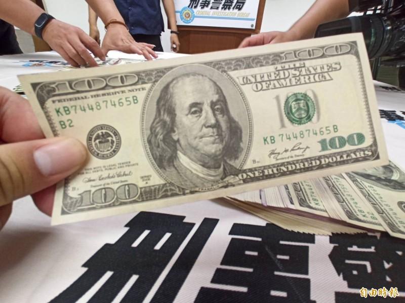 陳姓台商換到假美鈔,損失650萬元。(記者黃佳琳攝)