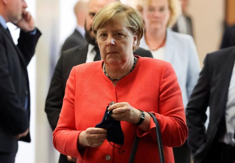 中國日前通過在香港實施的港版國安法,德國總理梅克爾表達憂心。(路透)