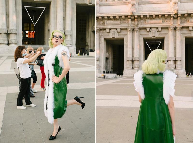 赴義大利米蘭從事時尚工作的台灣藝術家GinGin Mezzanotte(見圖),憑其獨特魅力登上義大利《GQ》六月同志驕傲特輯«Still Pride»。(圖擷取自Instagram_@gingin.mezzanotte/GinGin Mezzanotte授權提供/該系列照原刊於GQ Italia)