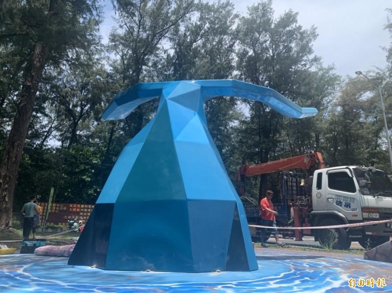 漁光島新地標「鯨彩漁光」微幅修正 本週提前完工亮相 - 生活 - 自由時