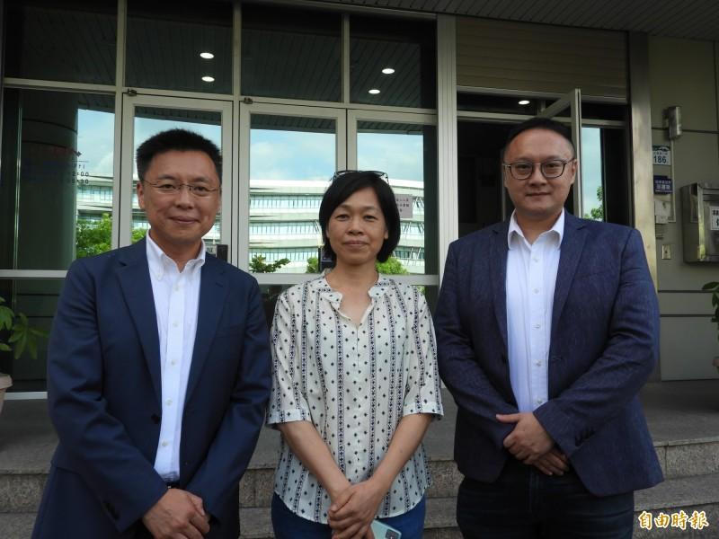 高市長補選電視政見發表會 確定8月1日舉行,左起為各陣營代表趙天麟、王詠沛、鄭照新。(記者葛祐豪攝)