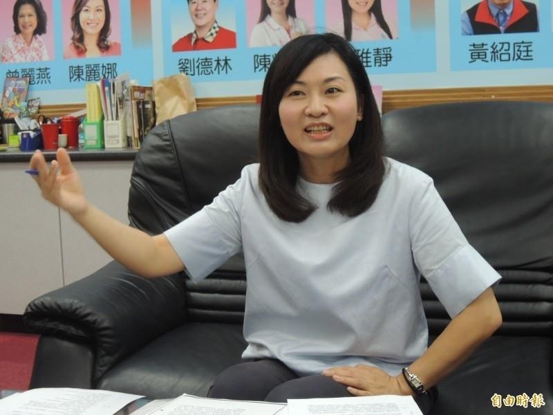 國民黨高雄市議員陳麗娜(見圖)宣布退出黨團運作。(資料照)