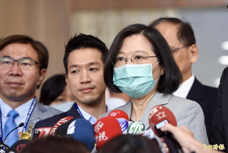 總統蔡英文5日出席「第12屆臺北國際中醫藥學術論壇大會開幕式」。(記者羅沛德攝)