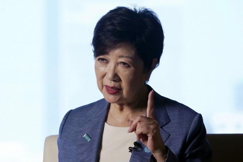 出口民調顯示,現任東京都知事小池百合子連任成功。(美聯社)