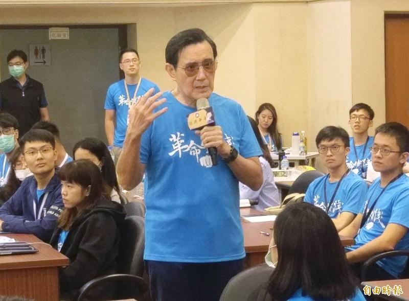前總統馬英九表示,蔡政府的國安五法、反滲透法跟港版國安法不遑多讓。(方賓照攝影)