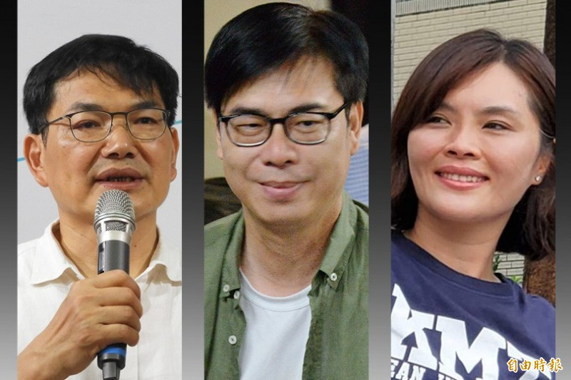 高雄市選委會今天公布3位市長參選人吳益政、陳其邁、李眉蓁(由左至右)的財產申報。(本報合成)
