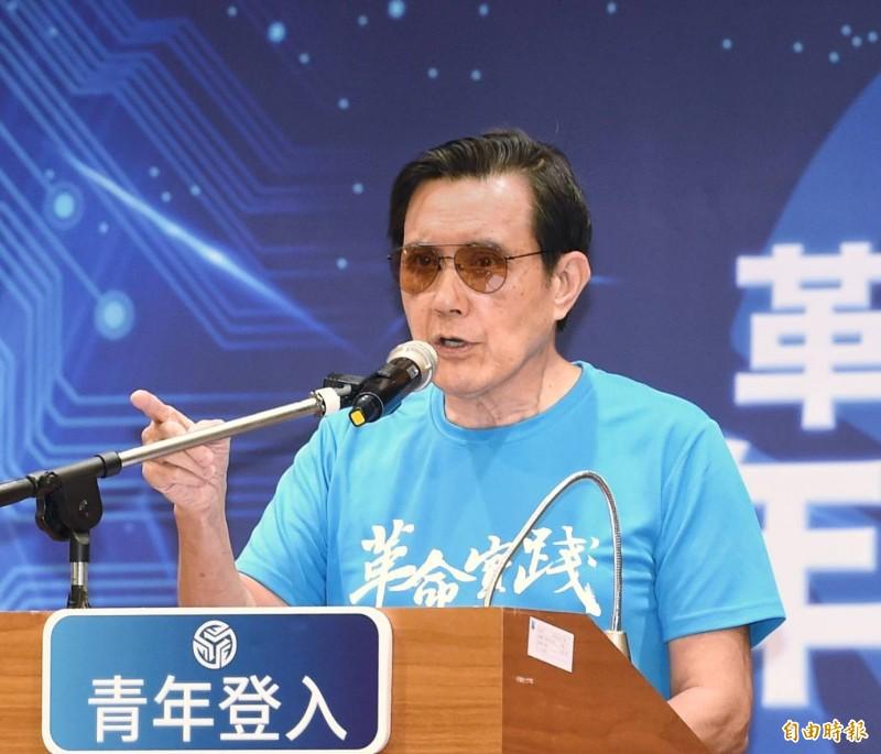 前總統馬英九(見圖)今天到革命實踐研究院,提及九二共識,他說,不要也可以,但請拿出替代方案。(記者方賓照攝)