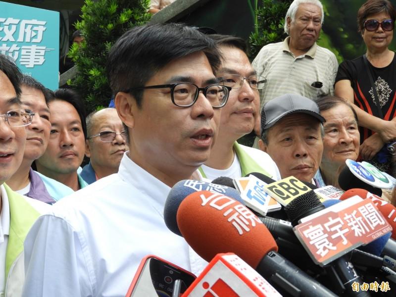 陳其邁強調他是一個準備好的市長候選人。(記者葛祐豪攝)