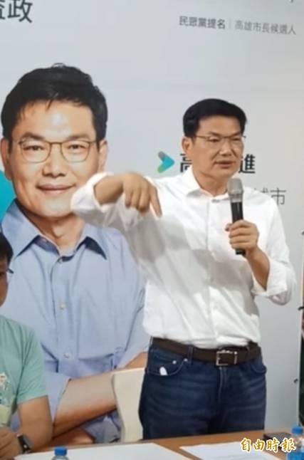 吳益政稱羡李眉蓁「嫁好尪」!(記者蔡清華攝)