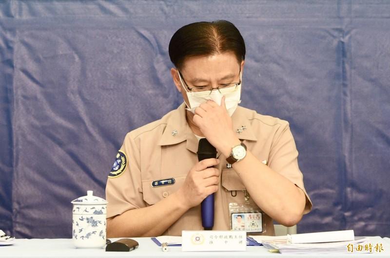 海軍政戰主任孫常德表示,「聯興操演」照常進行,但「突擊艇舟波運動科目」將取消。(記者羅沛德攝)