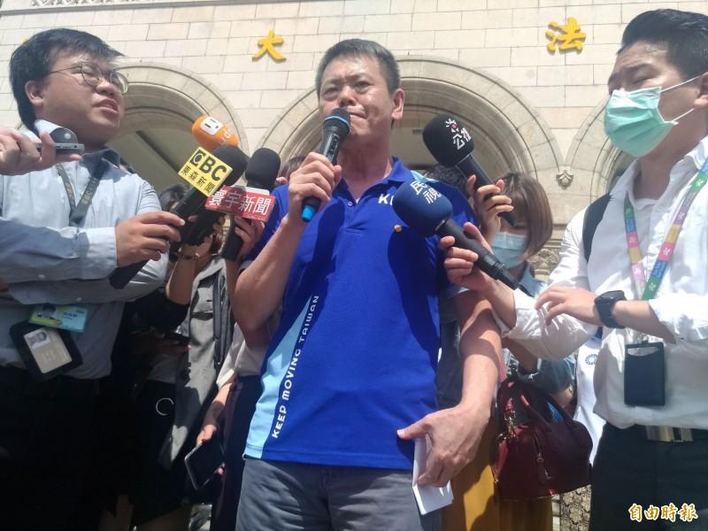 國民黨立院黨團總召林為洲表示,國民黨對於港版國安法的立場很簡單,就是嚴厲譴責。(記者吳政峰攝)