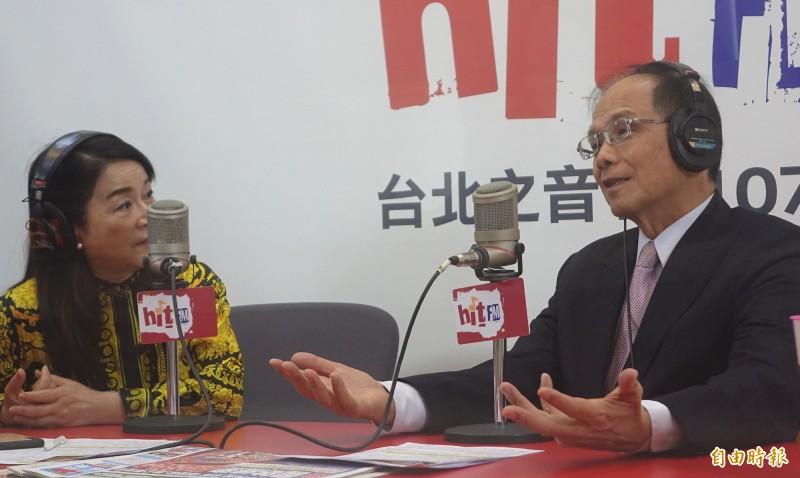 中國強推「港版國安法」,前總統馬英九稱「蔡總統也不惶多讓」,立法院長游錫堃對此強調,兩者有很大的不同,馬英九應「多看國際新聞、少說話」。(記者王藝菘攝)