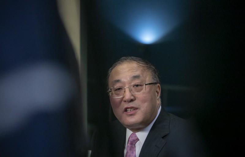 中國正式加入《武器貿易條約》。圖為中國駐聯合國大使張軍。(美聯社)