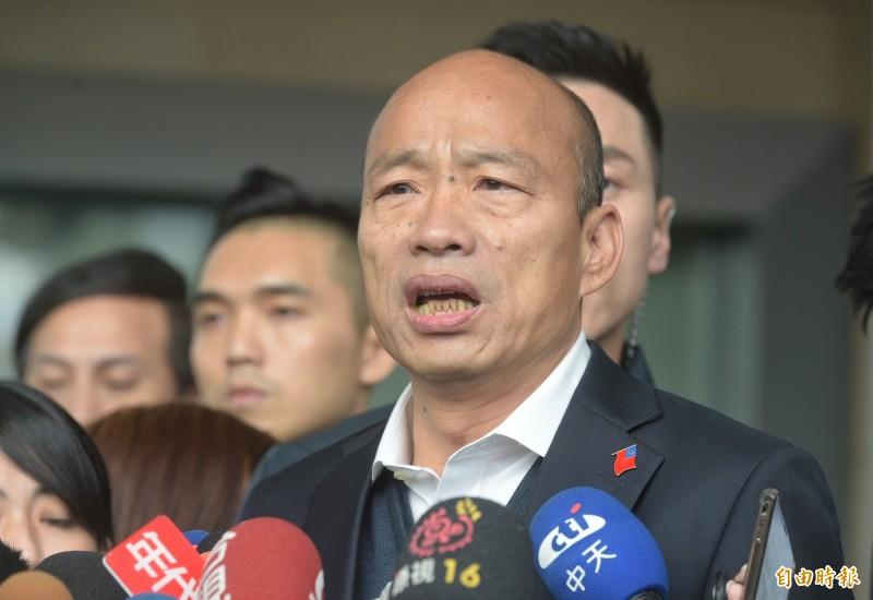 韓國瑜在臉書澄清說,國民黨徵召高雄市議員李眉蓁參與高雄市長補選,整個人選提名過程他並未參與。(資料照)