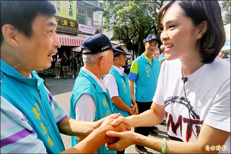 李眉蓁(右)反諷陳其邁落選了還有大官做。 (記者洪定宏攝)