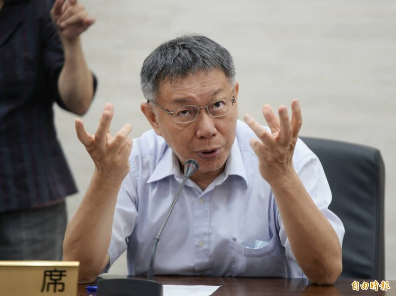 台北市長柯文哲。(記者林正堃攝)