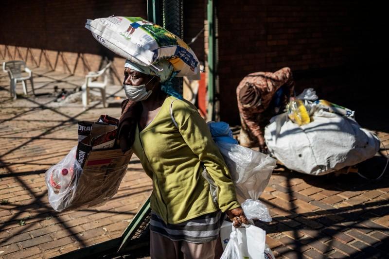 非洲大陸總確診數已超過50萬例。(法新社)