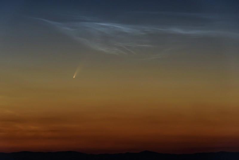 尼歐懷茲彗星編號為C/2020 F3(NEOWISE)。(美聯社)