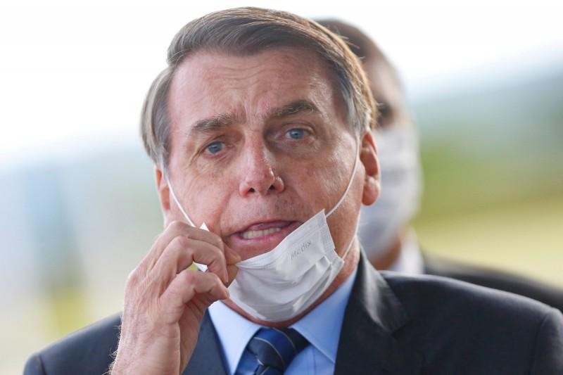 巴西總統波索納洛(Jair Bolsonaro)。(路透)