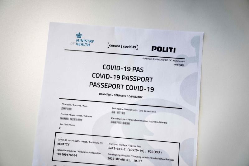 防疫有成的丹麥近日推出「免疫護照」。(法新社)