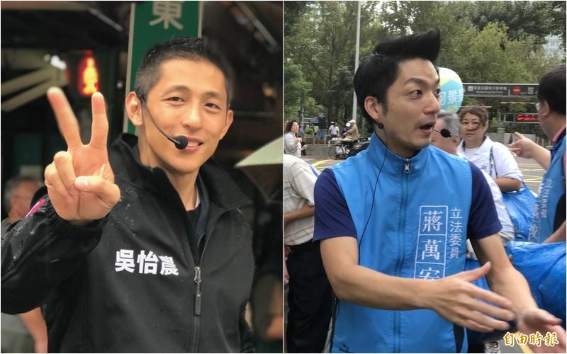 從監察院公布的資料可看出,吳怡農(左)在2020立委選戰的收入比蔣萬安(右)多出一倍,支出方面比對方花費約850萬元。(資料照合成圖)