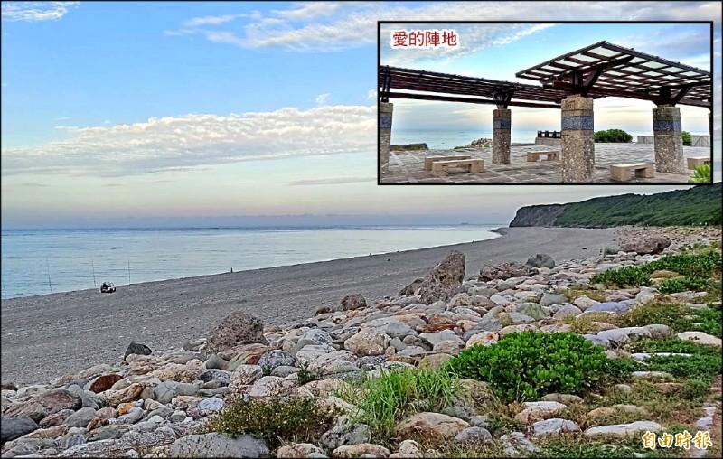 20多歲已婚郭姓女子接受未滿16歲的國三男學生追求,兩人在七星潭海灘及涼亭打野戰。(記者王錦義攝)