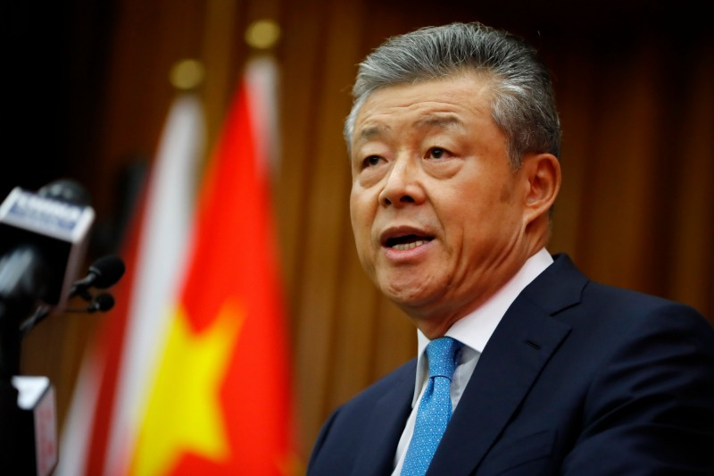 英國媒體10日爆料,英政府擬在2025年以前移除華為5G設備;對此,中國駐英大使劉曉明(見圖)表示,「拒絕華為就是在拒絕一個更好的未來」。(法新社資料照)