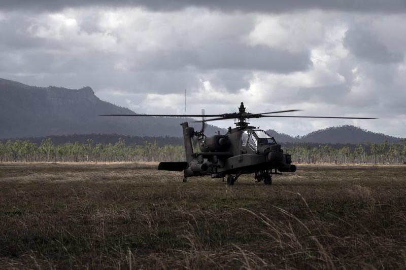 AH-64E阿帕契攻擊直升機。(歐新社)