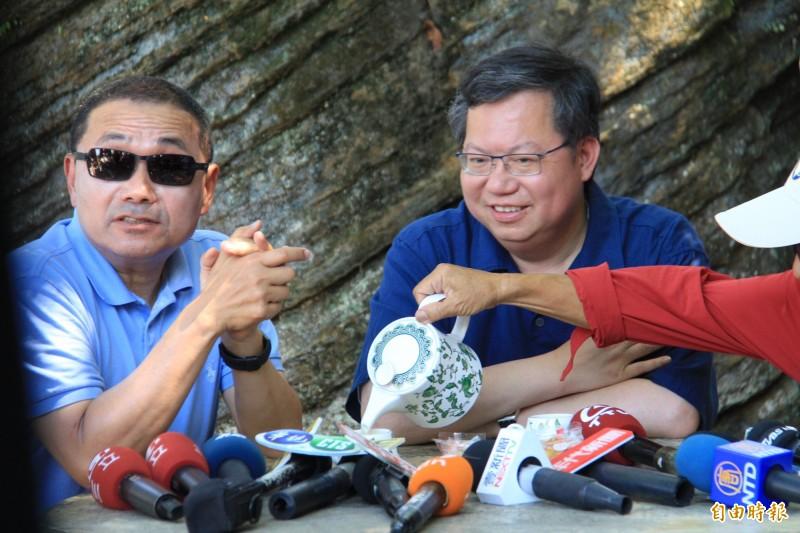 侯友宜和鄭文燦也說,未來兩市之間還會有更多合作。(記者邱書昱攝)