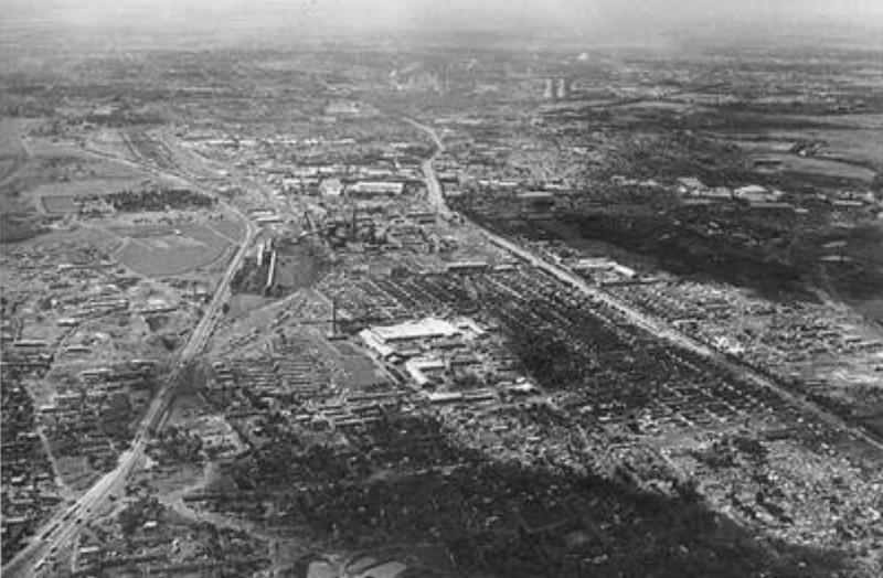 1976年7月28日凌晨3時42分53.8秒,河北省唐山市發生芮氏規模7.8地震,城市幾乎夷為平地。(圖取自人民日報)