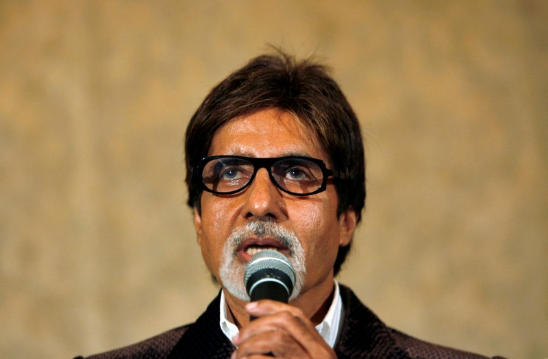 印度寶萊塢巨星巴昌(Amitabh Bachchan)確診武漢肺炎(新型冠狀病毒病,COVID-19)。(路透)