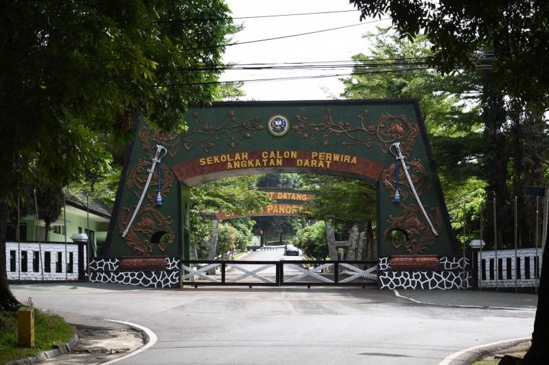 印尼西爪哇省萬隆市的印尼陸軍預備軍官學校爆發武漢肺炎群聚感染。(法新社)
