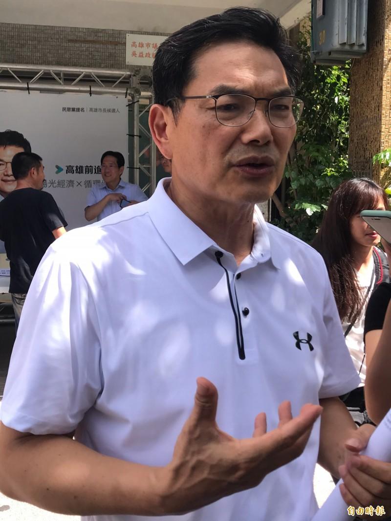 高鐵南延案成高雄市長補選攻防戰,吳益政:市長參選人「不能沒有意見」!(記者黃良傑攝)
