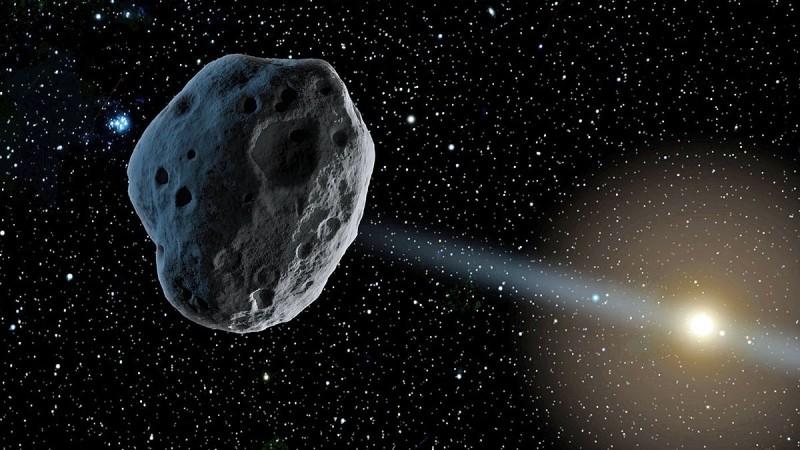 「台北天文館」小行星示意圖。(台北市立天文科學教育館提供)
