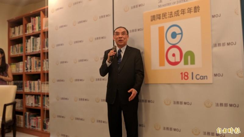 法務部長蔡清祥表示,對台北地檢署檢察官劉承武的行為不以為然。(記者吳政峰攝)