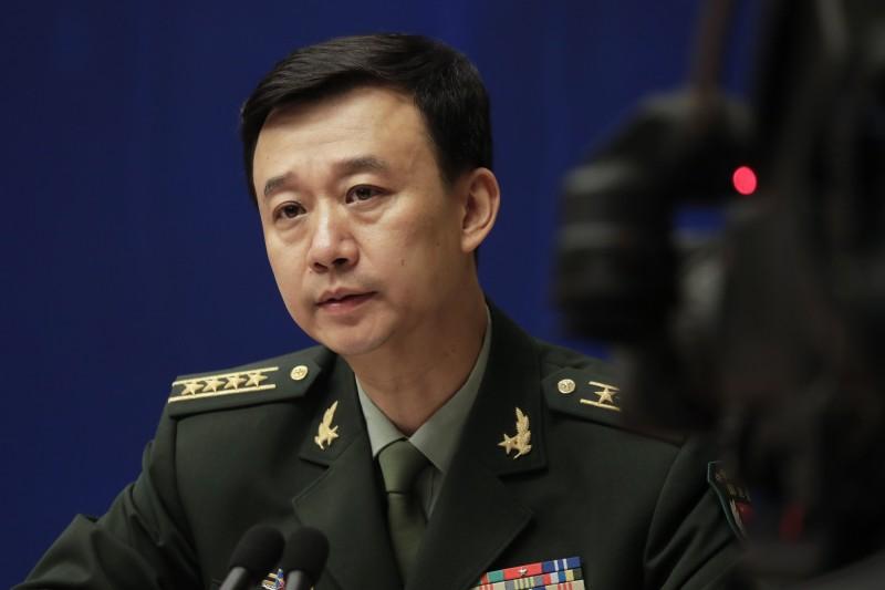 中國國防部發言人吳謙(見圖)聲稱,要警告民進黨「以武謀『獨』死路一條」。(美聯社)