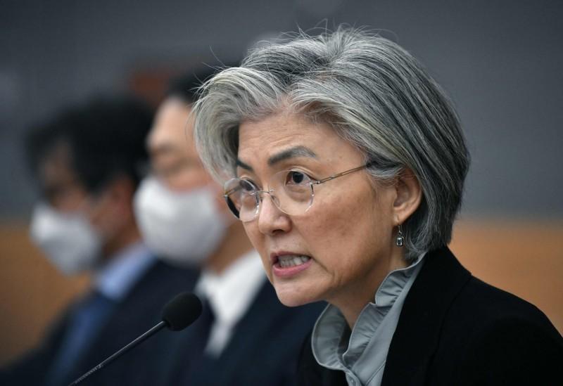 南韓外交部擬就美中矛盾設立常規組織應對。圖為南韓外交部長康京和。(法新社)