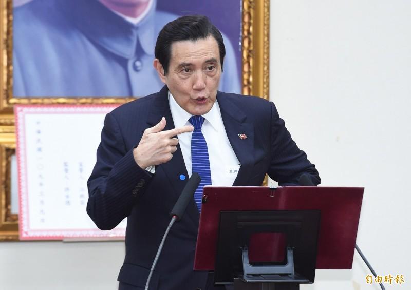前總統馬英九(見圖)表示,會領取並消費,與民眾一起振興經濟。(資料照)