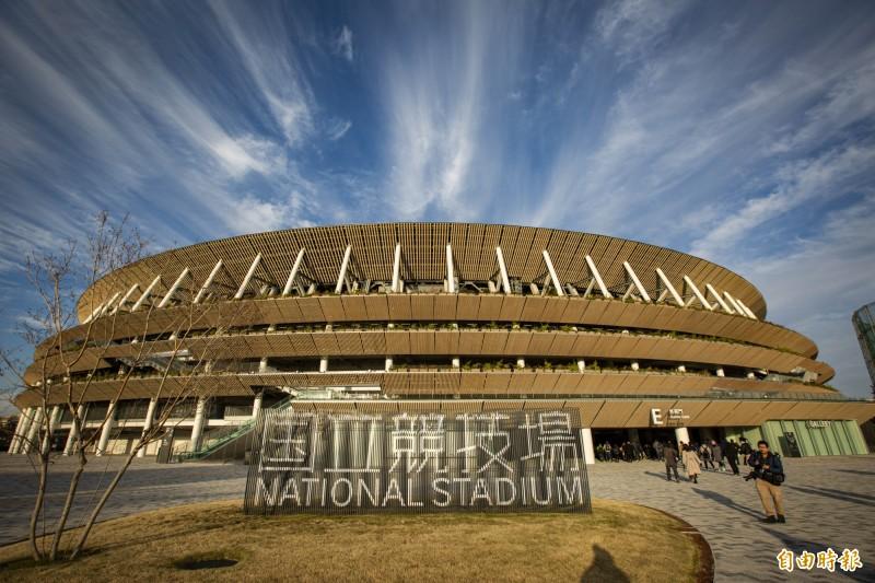 目前東奧預定於明年7月23日開幕。圖為東京奧運主場館「國立競技場」。(本報資料照)
