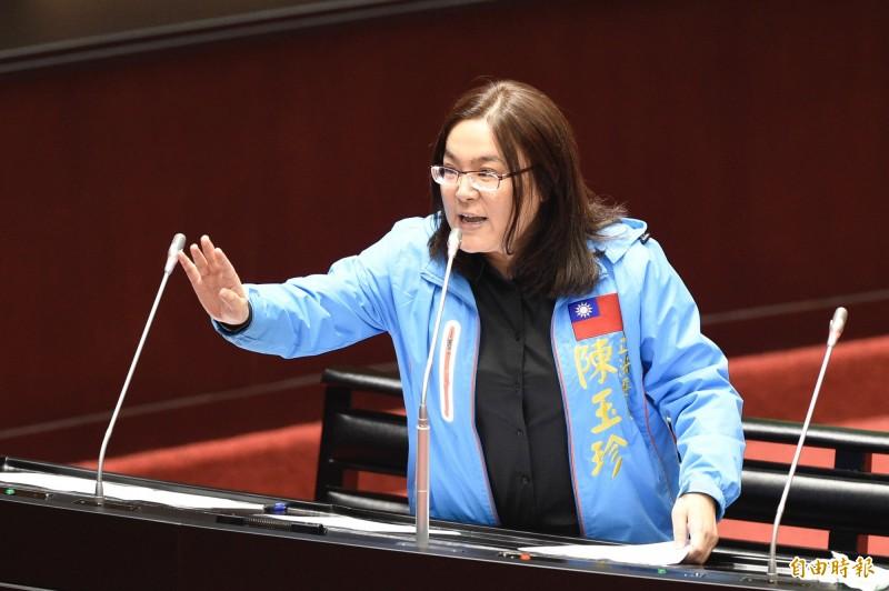 國民黨立委陳玉珍批評范雲「怕熱就不要進廚房」。(資料照)