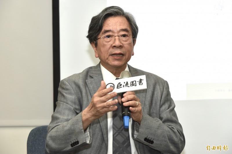 台灣亞洲交流基金會董事長蕭新煌。(記者塗建榮攝)