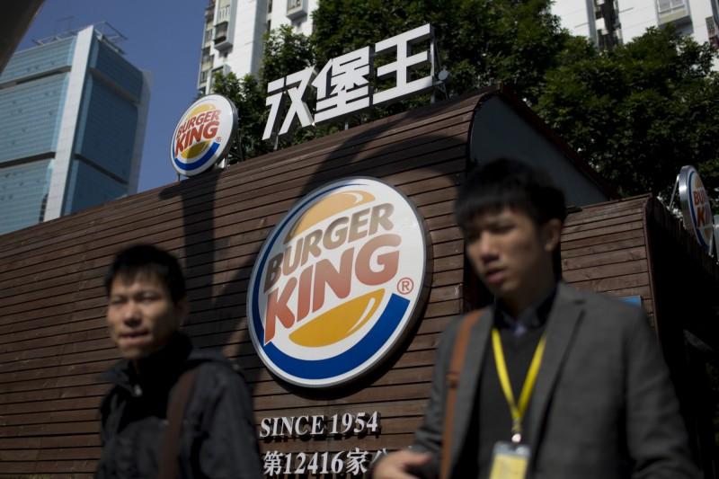 中國漢堡王被爆料使用過期麵包、雞腿販售給客人,總公司公開致歉。圖為中國漢堡王分店外觀,非當事店家。(彭博檔案照)